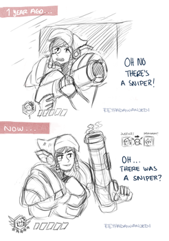 Then And Now .Overwatch by sexyfairy