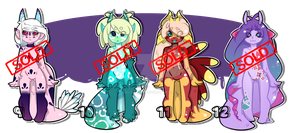 Bavacoda Adoptables 9 - 12 [[ CLOSED ]] by MiloBytes