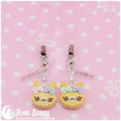 Cookie friends Phone Straps BFF SET 2 by CuteMoonbunny