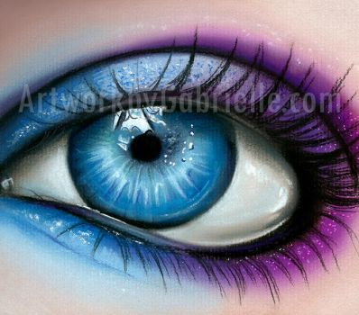 Blue and Purple Eye by GabrielleBrickey