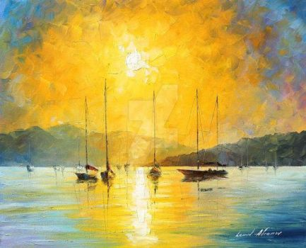 Baja California by Leonid Afremov by Leonidafremov
