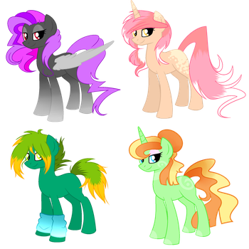 ~Adoptables~. [AUCTION] Random Ponies :CLOSED: by SH0STAKOVlTCH