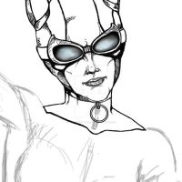Catwoman Sketch by hintofsilence