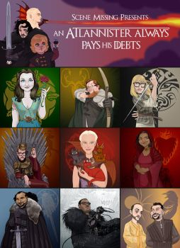 Game Of Thrones Art for Scene Missing by borogove13