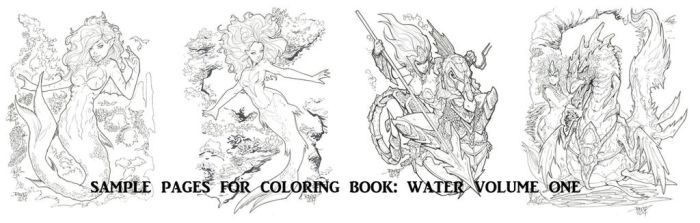 COLORING BOOK SAMPLE PAGES WATER by rantz