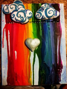 Canvas Art With crayons by Starie-Dreams