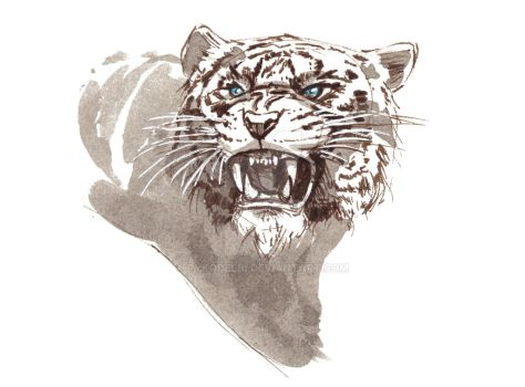 White tiger print for sale by Pykodelbi