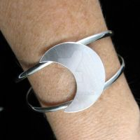 Crescent Moon Bracelet Cuff by camias