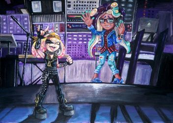 Splatfest: Retro vs Modern by RavenCorona