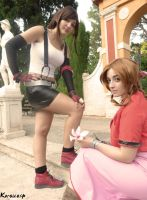 FINAL FANTASY VII - Tifa and Aerith by ExionYukoCosplay