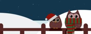 Christmas Owls by Art-Magpie