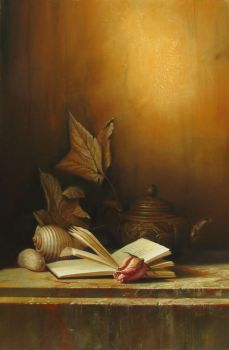 stil life with book by andrianart
