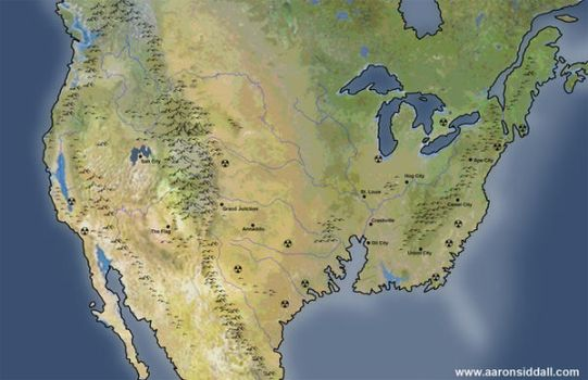 Post Apocalypse North America by MythAdvocate