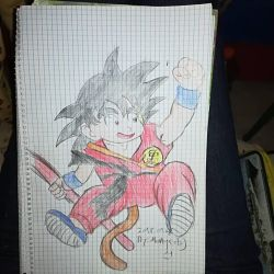 .: SonGoku:. - Kid version by FireKitten86