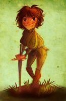 Arya and Needle by kallielef