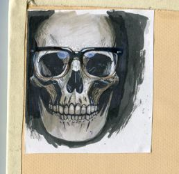 skull avatar painting by Jeremy-Forson