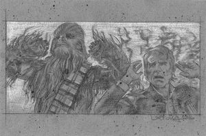 Han and Chewie by JeffLafferty