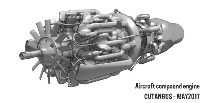 Compound Piston Engine A209 by CUTANGUS