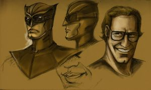 Nite Owl sketches by rmerry