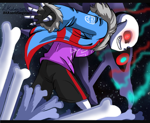Commission #3(2018) - Late!Sans by sonicfangirl666