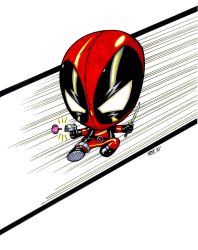 Baby Deadpool by olivernome