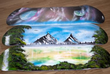 Three Skateboards = one big picture by RiensArtwork