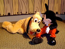 Just a mouse and his Dog by junkyardpicasso