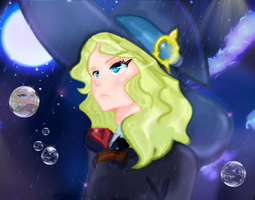 Little Witch Academia Diana Cavendish Fanart Luna by Amanomoon