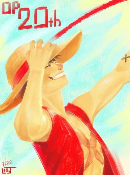 One Piece - 20th! by LessaNamidairo