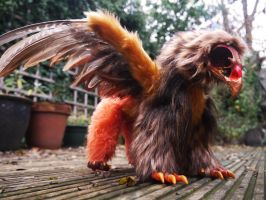 Autumnal Griffon poseable fantasy art doll by TrafficConeCreations