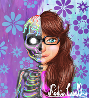 Redesigned Creative Self-Portrait by NadiaCoelho