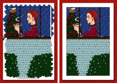 Before and After 'Christmas Window' by Muggle-Angel