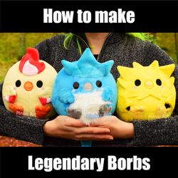 TUTORIAL - Round Moltres, Articuno, Zapdos plush by PinkuArt