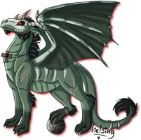 Caullinger as a dragon by Deathsteed