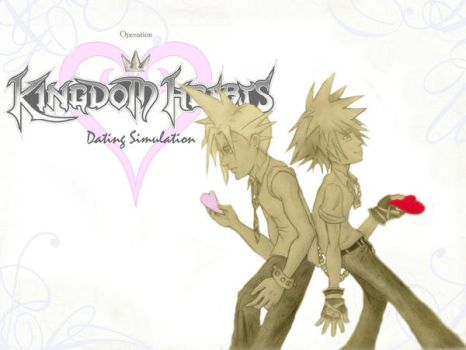 Kingdom Hearts Lineart : Op kingdomhearts ds the kh & ff7 dating game deviantart