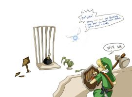 Link knows what he's doing by Laaree