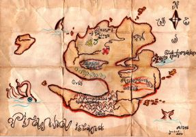 Pirate's Treasure's map 2 by Gordjia