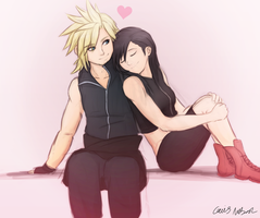 On Cloud Nine. (Cloud x Tifa) by CaiusNelson