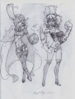 OC - Gwar (left) Ellen (right) by snoop19922002