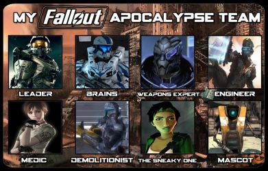 My Fallout Apocalypse Team by Archangel470