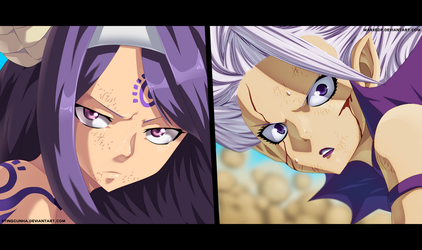 Mirajane vs Sayla - Fairy Tail 375 [Collab] by MarxeDP