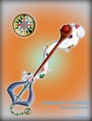 Colors Of The Wind Keyblade by portadorX