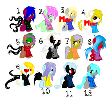 Some (Gay xD) Hoodie Pony adopts! CLOSED by HeartEsart