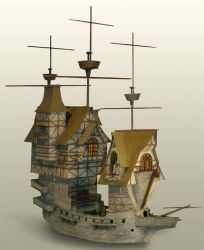 Unfinished Model Ship by TimBakerFX