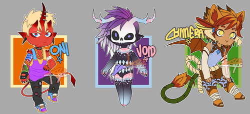 Monster Boy Adopts!!! [CLOSED] by KaseAdopts