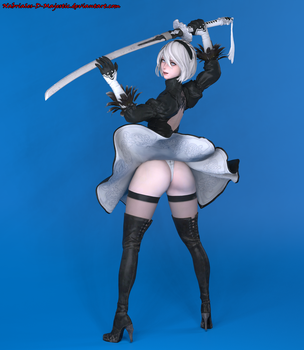 Platinum Heroes (Yorha type 2b) by Nabriales-D-Majestic
