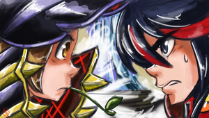 Mako vs Ryuko by Budgies