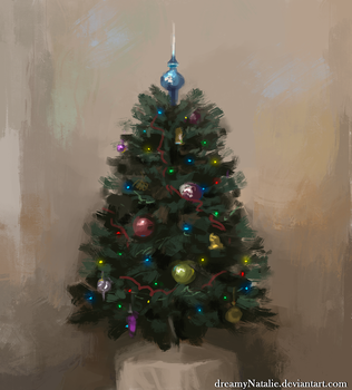 Christmas tree sketch by DreamyNatalie