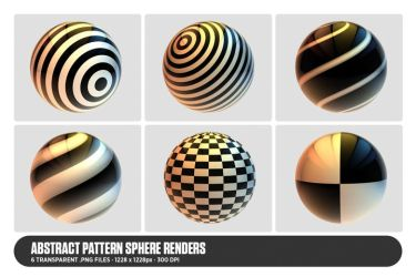 Abstract Pattern Sphere Renders by DesignFathoms