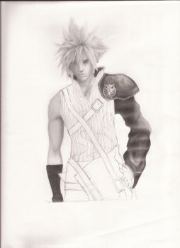 Cloud Strife Unfinished by Facepalmmaster